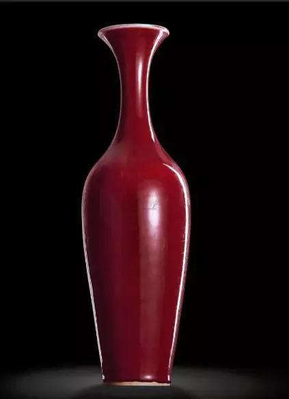 豇豆红柳叶瓶 清雍正私人藏品