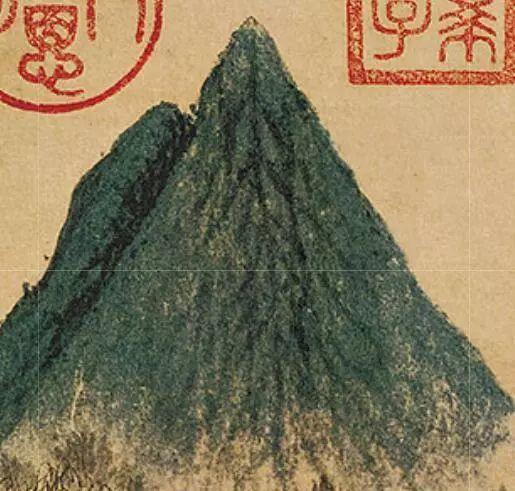 元 / 赵孟頫 /《鹊华秋色图》局部