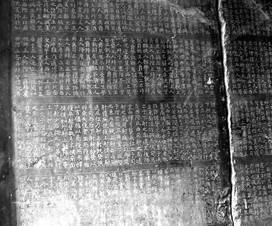 """《开成石经》石碑间的对应排列或有难度。""""西安发布""""图"""