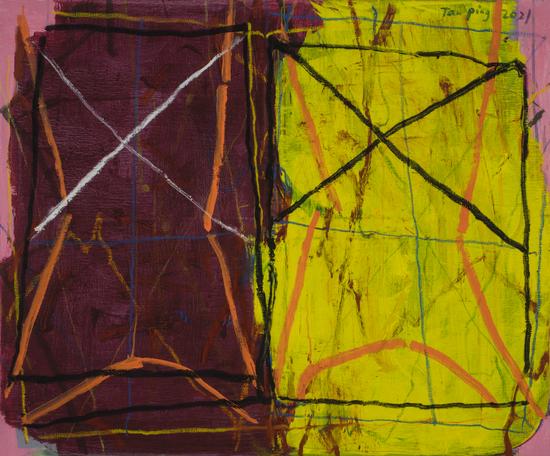 《无题》,布面丙烯,100 x120cm,2021