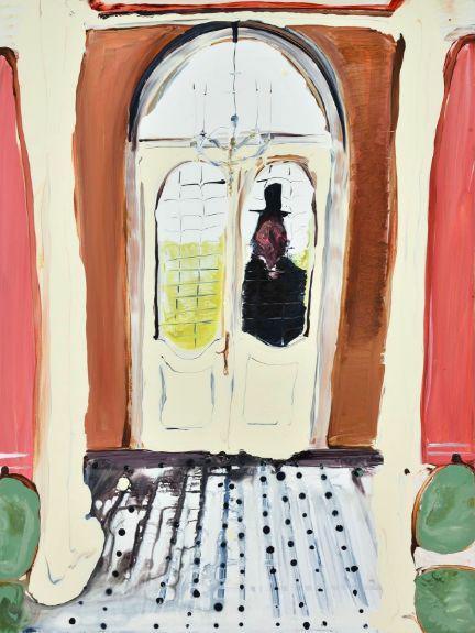 "Knock, knock,31"" x 23"",Acrylic on canvas,2018"