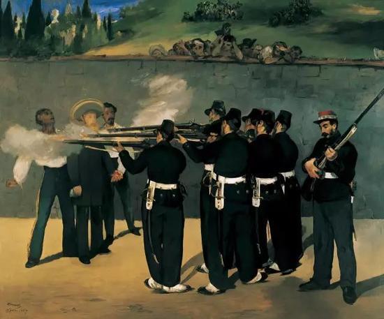 ▲ 麦斯米兰的处决 252x305cm 布面油画 1868