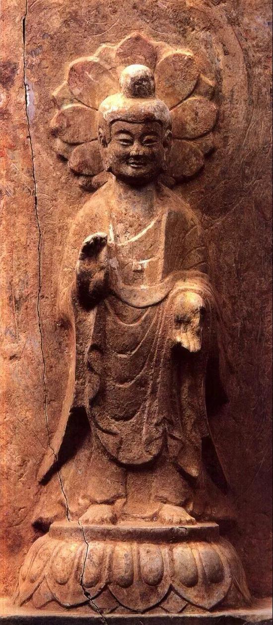 北魏永安二年韩小华造弥勒像(主尊),青州龙兴寺出土