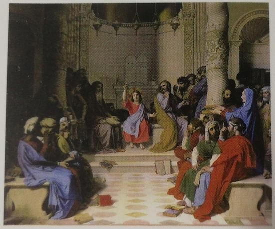 J-A-D·安格尔(1780-1867)《耶稣与圣师们》,1862 年,蒙托邦,安格尔博物馆。