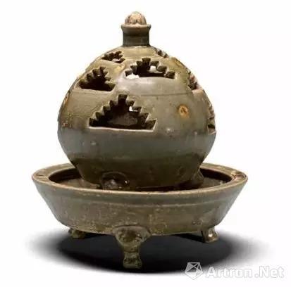 ▲ 越窑青瓷熏 西晋 绍兴市上虞博物馆藏