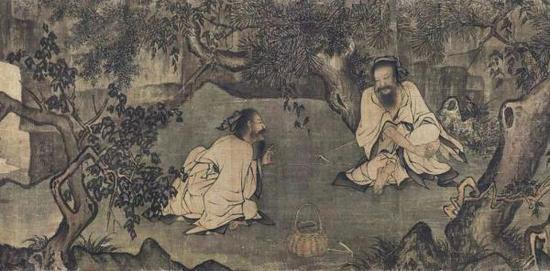 李唐《采薇图》(局部)