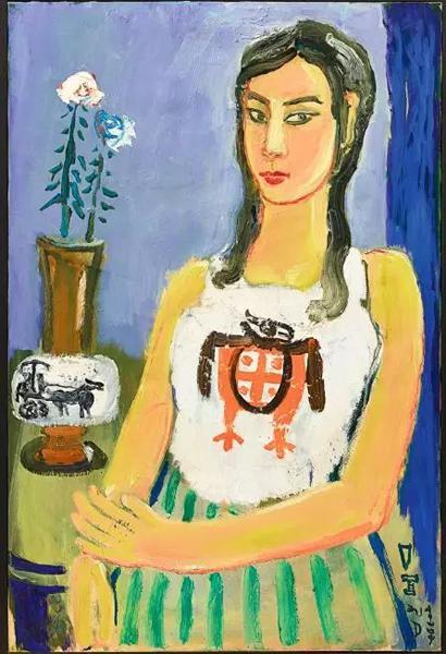 丁衍庸作品《坐着的女士》,估价600万—1000万港币