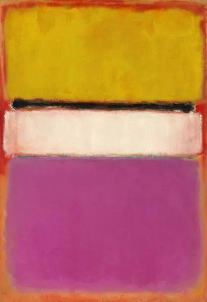▲马克·罗斯科的油画《白色中心》