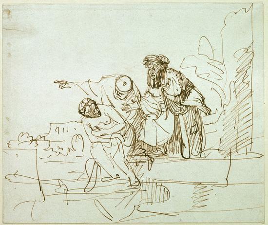 《苏珊娜与两位老人》(Susanna and two old men),Gerbrand van den Eeckhout,1635年