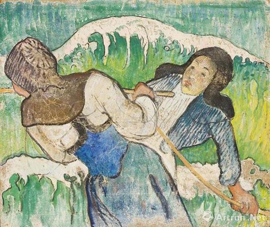 拍品编号36 保罗·高更(1848-1903) 《采海带的人》