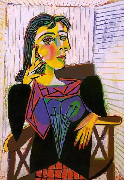 朵拉·玛尔像,毕加索,1937