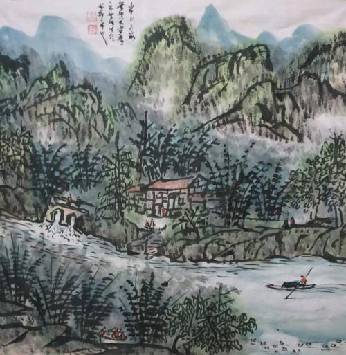 宋智明及其山水画赏析