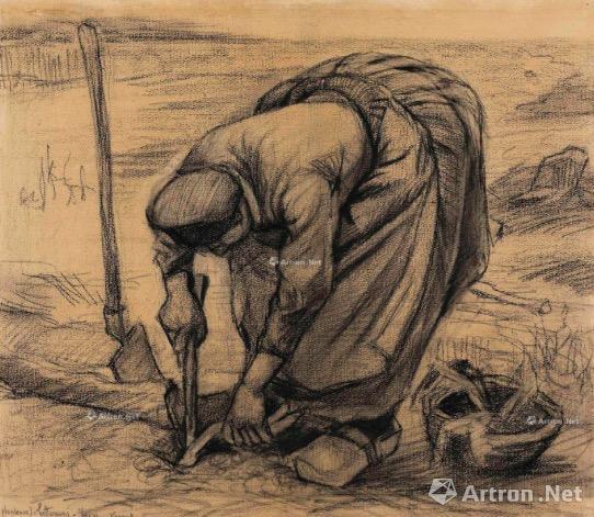 文森特·梵高 《种红菜头的农妇》 361.25万美元