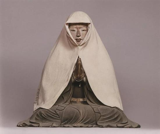 ▲奈良当麻寺藏《中将姬坐像》 室町时代永禄元年(1558)