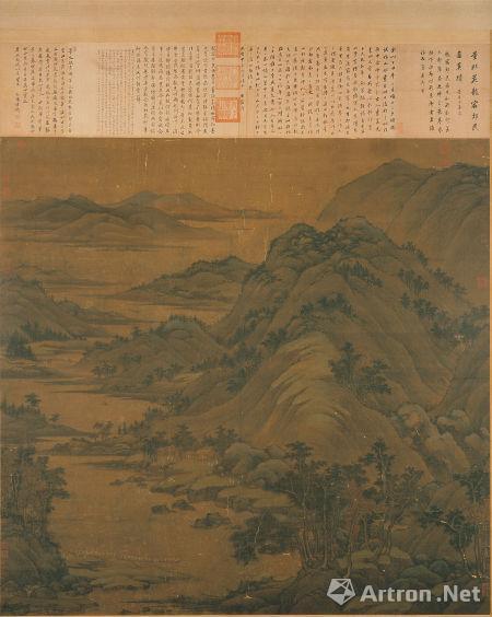 龙宿郊民图 五代南派 董源,绢本,设色,现藏于台北故宫博物院