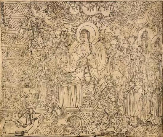 《金刚经》卷首图 唐咸通九年
