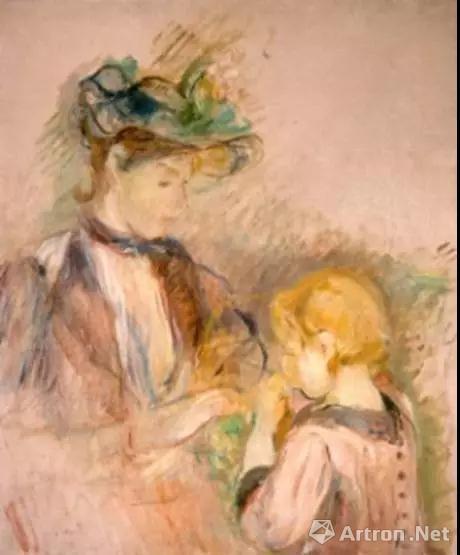 ▲贝尔特·莫里索《年轻女性和孩子》