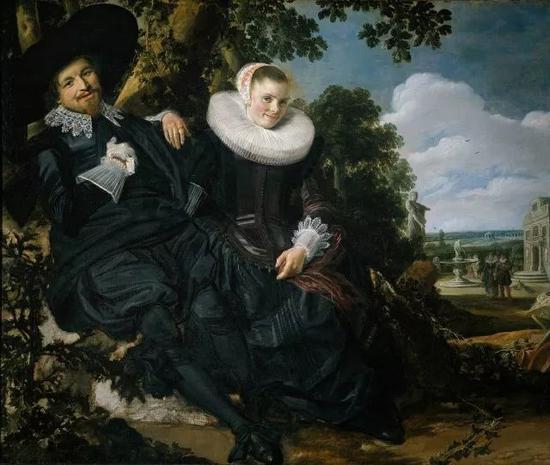 弗兰斯・哈尔斯《花园里的结婚画像》1622年 油画 @阿姆斯特丹国立博物馆