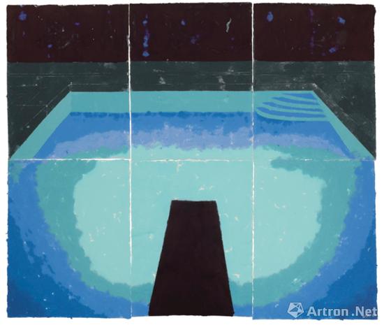 大卫・霍克尼《纸泳池30》以1174.38万美元成交,也超越了2016年的拍卖纪录