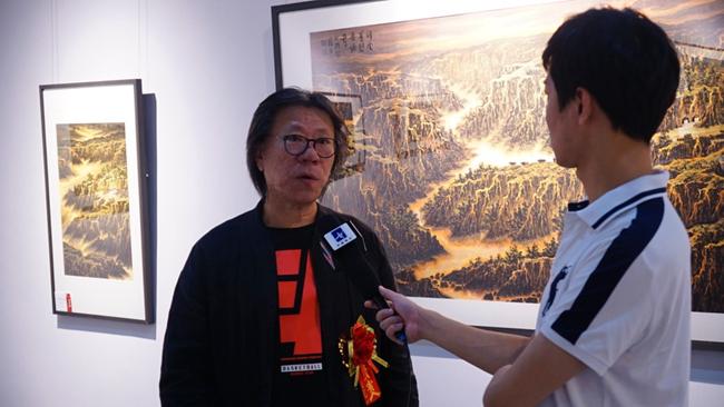 著名山水画家 王一明先生接受书画频道采访