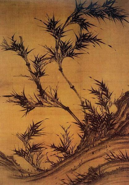 五代·南唐 李坡《风竹图》纵91.5cm横131.2cm故宫旧藏 现藏台北故宫博物院
