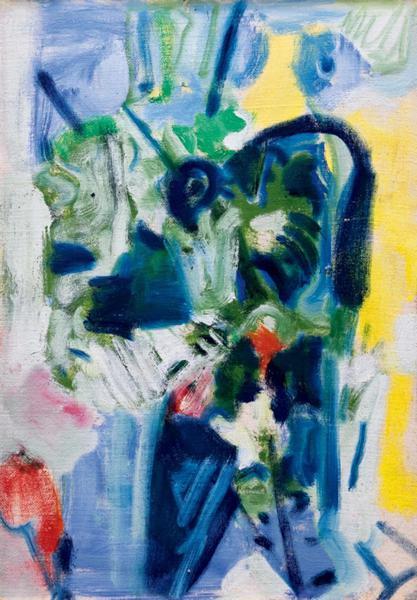 吴大羽《无题5》 约1980 年作 油彩画布裱于纸板 37 x 26 cm。 成交价:HK$ 6,490,000