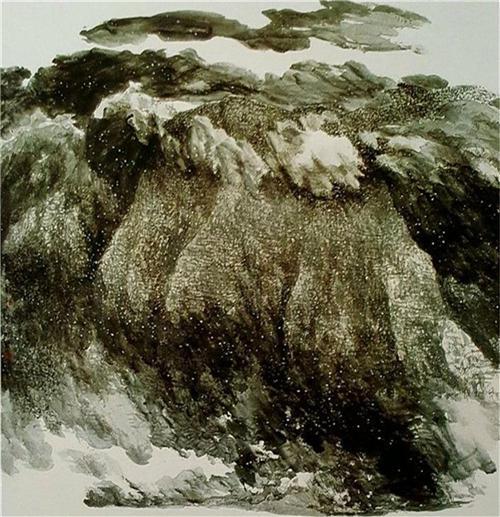 《黄河风雪》168×168cm