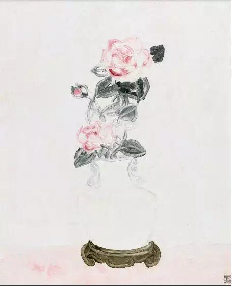 中国嘉德——常玉《白瓷瓶中的粉红玫瑰》