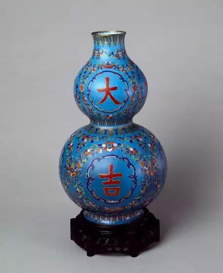 画珐琅大吉葫芦瓶 清 故宫博物院