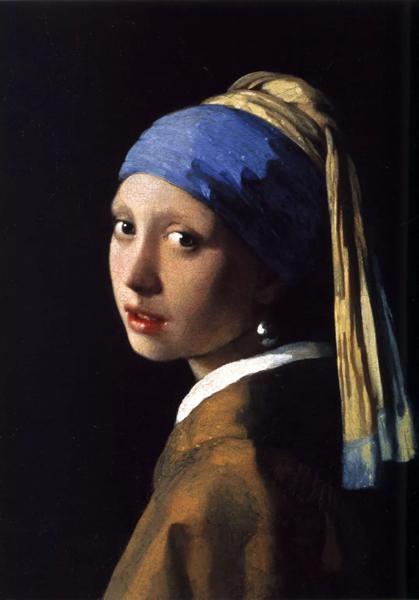 维米尔《戴珍珠耳环的少女》,1665