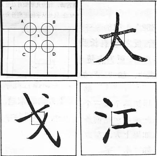 启功结字理论示范