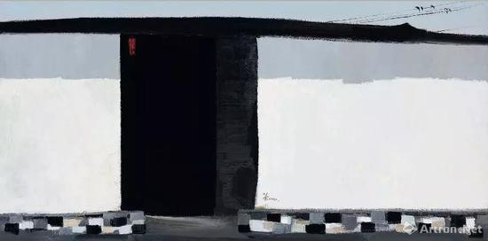 吴冠中 《秋瑾故居》 布面油画 2002 年作