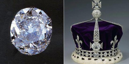 105克拉的科依诺尔钻石 图源:Royal Collection Trust