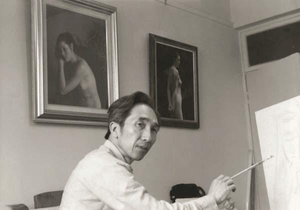 1990年代,靳尚谊在北京68号画室
