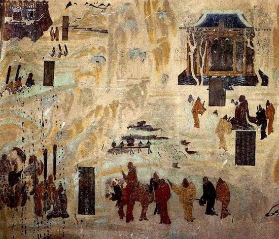 敦煌莫高窟第323窟北壁,张骞出使西域图
