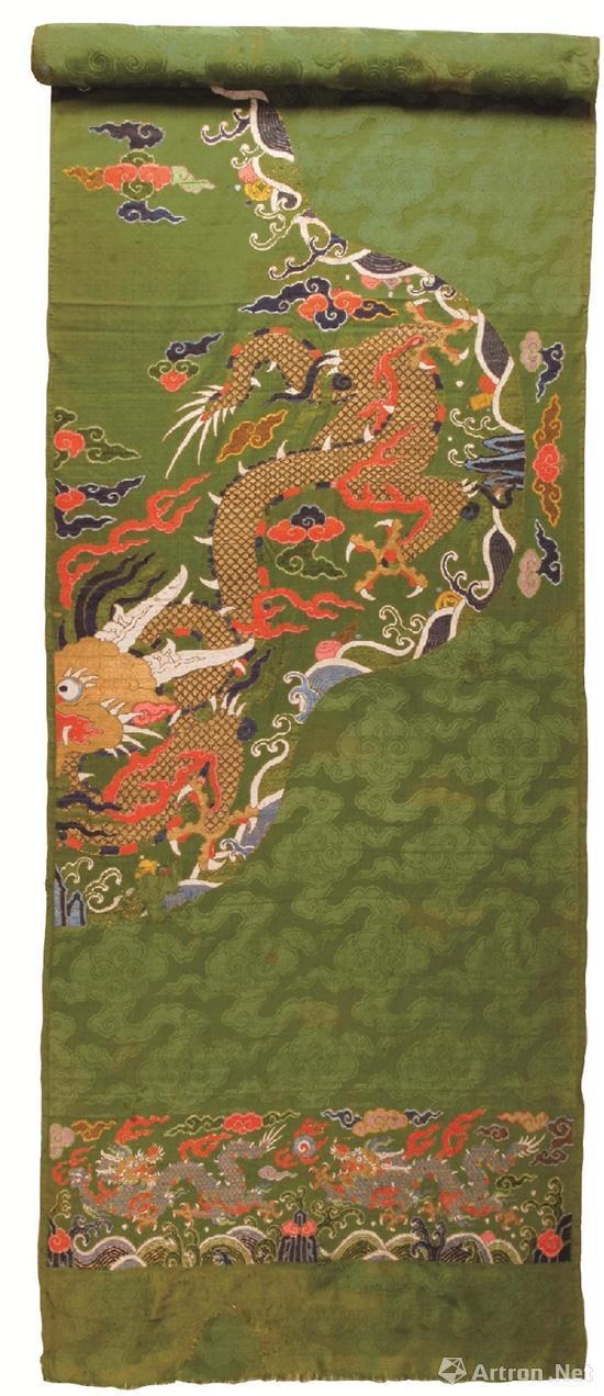 绿地妆花蟒缎袍料 中国丝绸博物馆藏