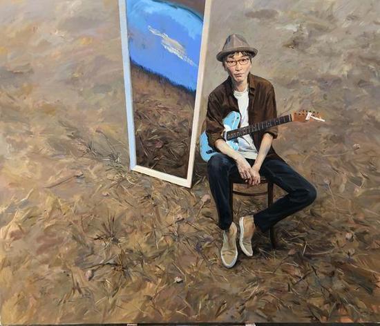 喻红,《一个人的天空》,2018,布面丙烯,230 x 270 cm