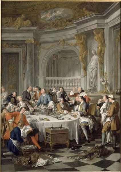 Jean-Fran?ois de Troy,The Lunch of Oysters ,1735