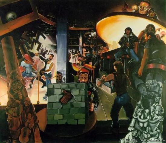 伊门多夫《德国咖啡馆-1》1978