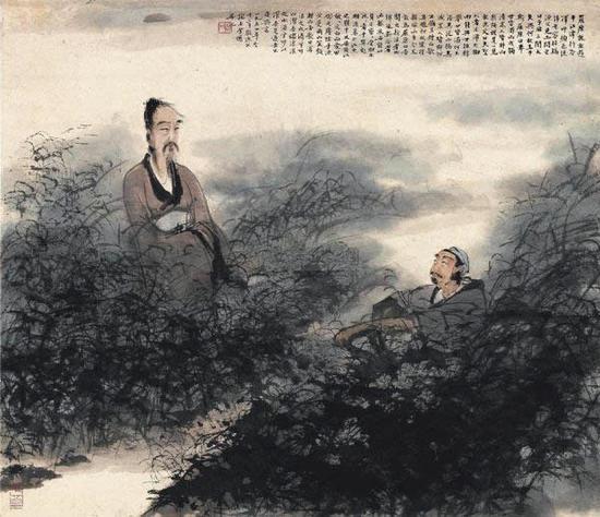 傅抱石,屈原渔父图,1954年