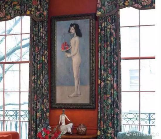 ▲《拿着花篮的女孩》曾置于大卫·洛克菲勒位于纽约65街大宅的书房内