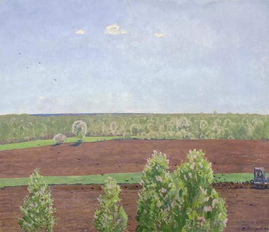西多罗夫《春回大地》布面油画 100×116cm 2002