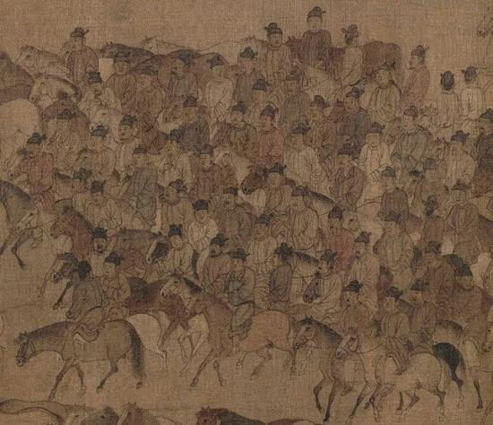 李公麟 《临韦偃牧放图》局部 北京故宫博物院藏