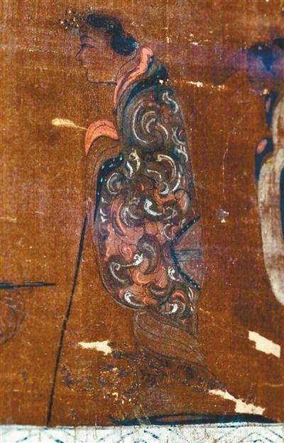 马王堆一号汉墓T形帛画局部。