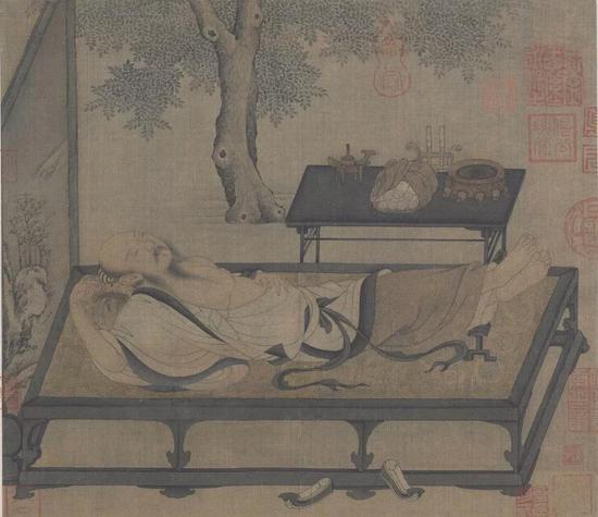北宋 佚名 《槐荫消夏图》 现藏于故宫博物院