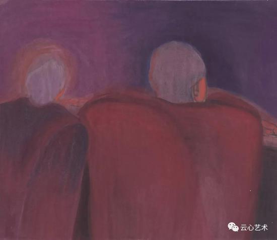 馬兆琳,《遠方》,紙本設色,50×40cm