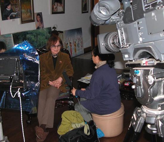 央视《中国电影人物》节目,采访电影特技设计师董蕾
