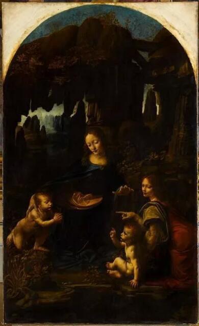 《岩间圣母》(La Vierge aux rochers)