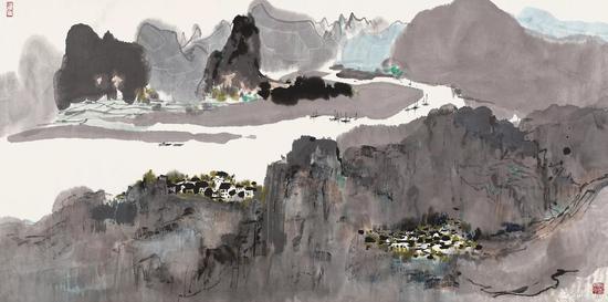 中国书画专场TOP1, 吴冠中作品《漓江》,成交价1239万港元