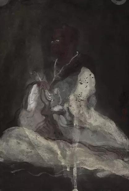 罗汉,纸本水墨,24x35cm,2019 (2)